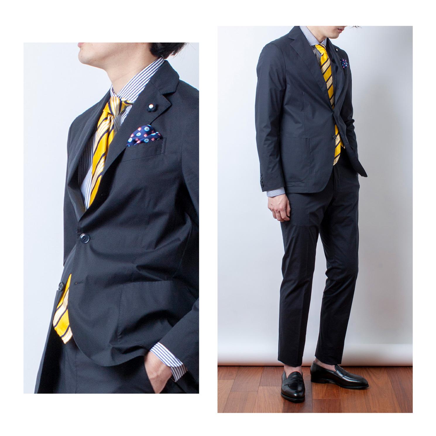 スーツ②+着用