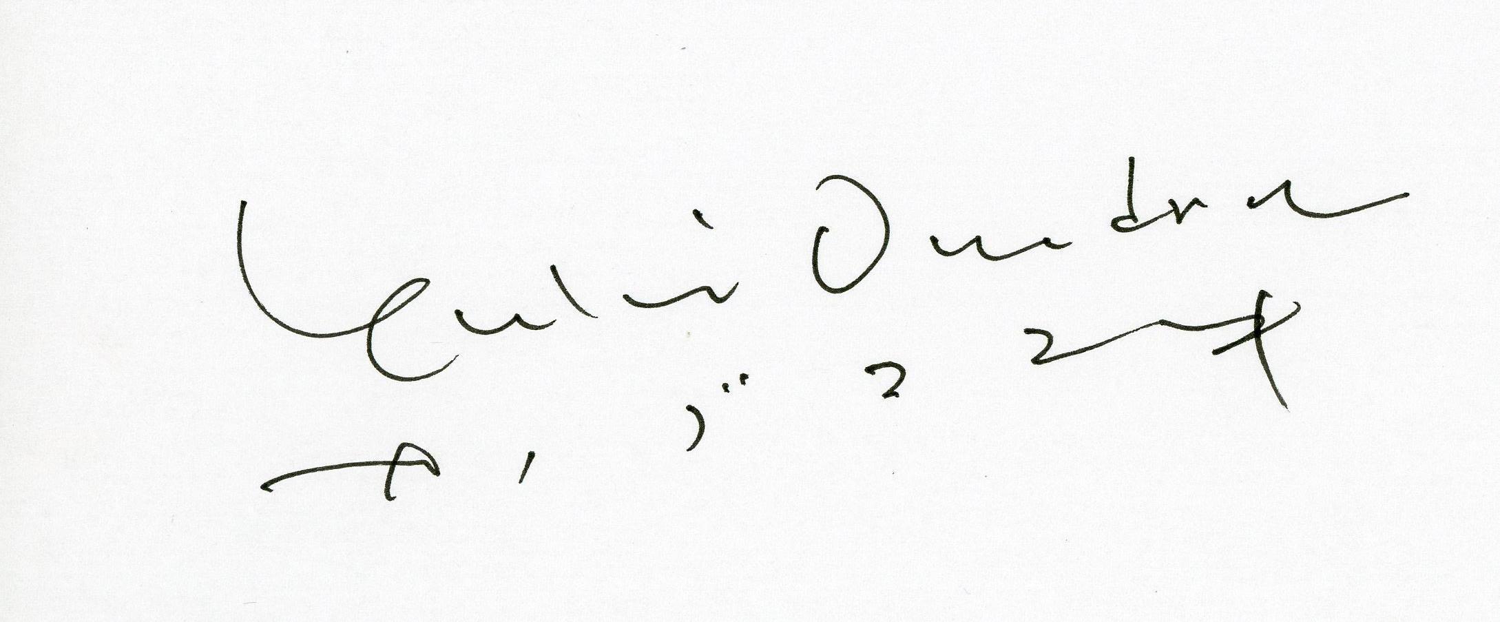 オノデラユキ サイン