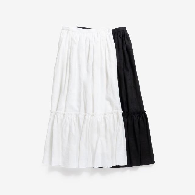 リネン ティアードスカート